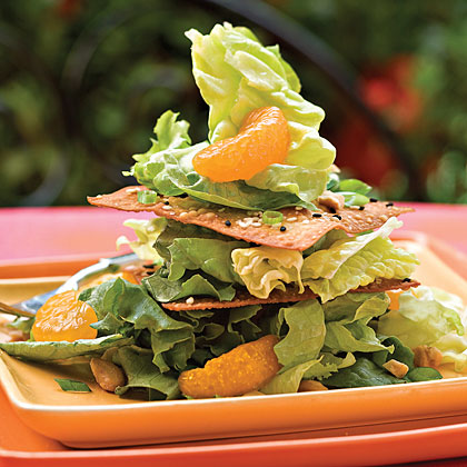 Crispy Sesame Salad Stack Recipe