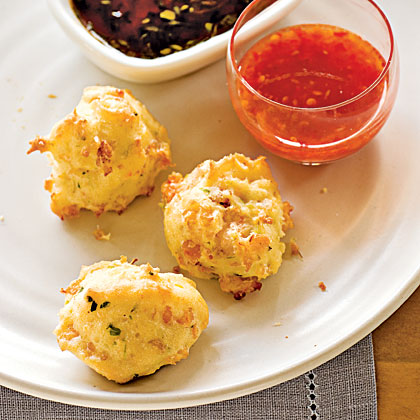 Shrimp Toast Puffs with Two Sauces Recipe