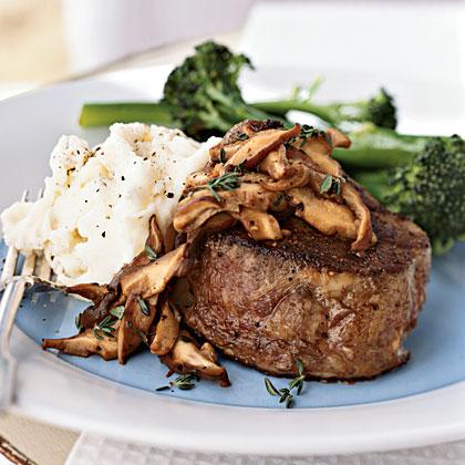 Beef Tenderloin Steaks with Shiitake Mushroom Sauce