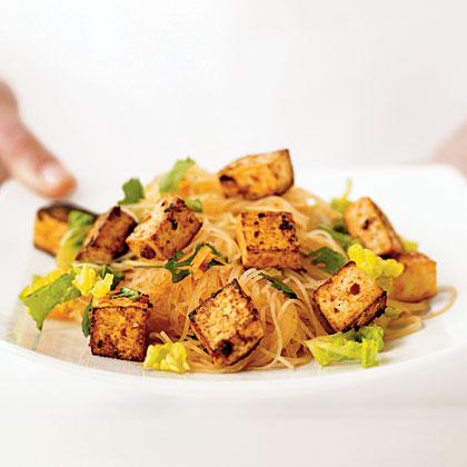 Thai Noodle Salad with Sautéed Tofu
