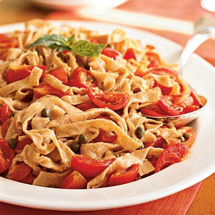 Whole Wheat Tagliolini with Fresh Cherry Tomato Sauce