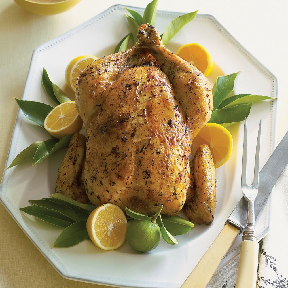 Roast Chicken with Meyer Lemon Shallot Sauce