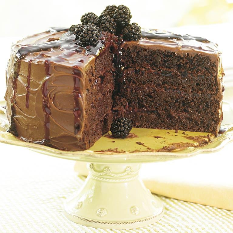New-Fashioned Blackberry Chocolate Spice Cake