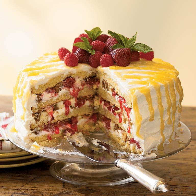 Cheesecake-Stuffed Luscious Lemon Cake