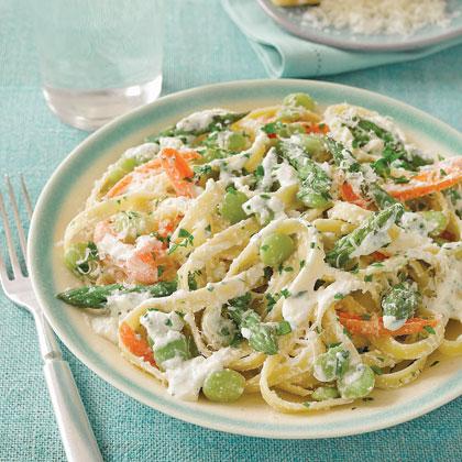 Cheesy Pasta Primavera Recipe
