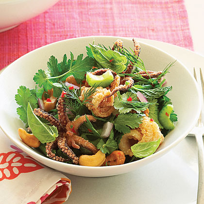 Vietnamese Calamari Herb SaladRecipe