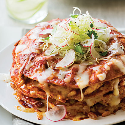 Stacked Chicken Enchiladas Recipe