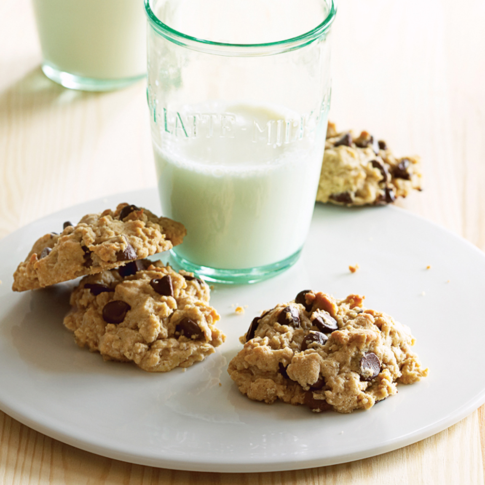 Oatmeal Peanut Butter Chocolate Chip Cookies Recipe