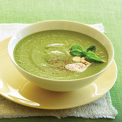 Creamy Basil Zucchini Soup