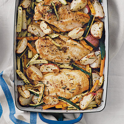 Rosemary Chicken with ZucchiniRecipe