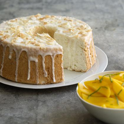 Lime-Glazed Angel Food Cake Recipe | MyRecipes