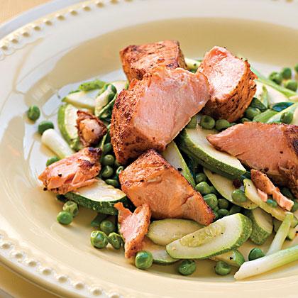Pan-Seared Salmon NuggetsRecipe