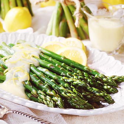 Asparagus with Mock Hollandaise Sauce
