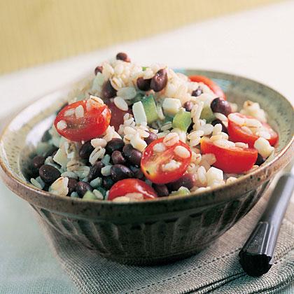 Barley and Black Bean Salad