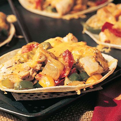 Chicken-Pepper Tostadas