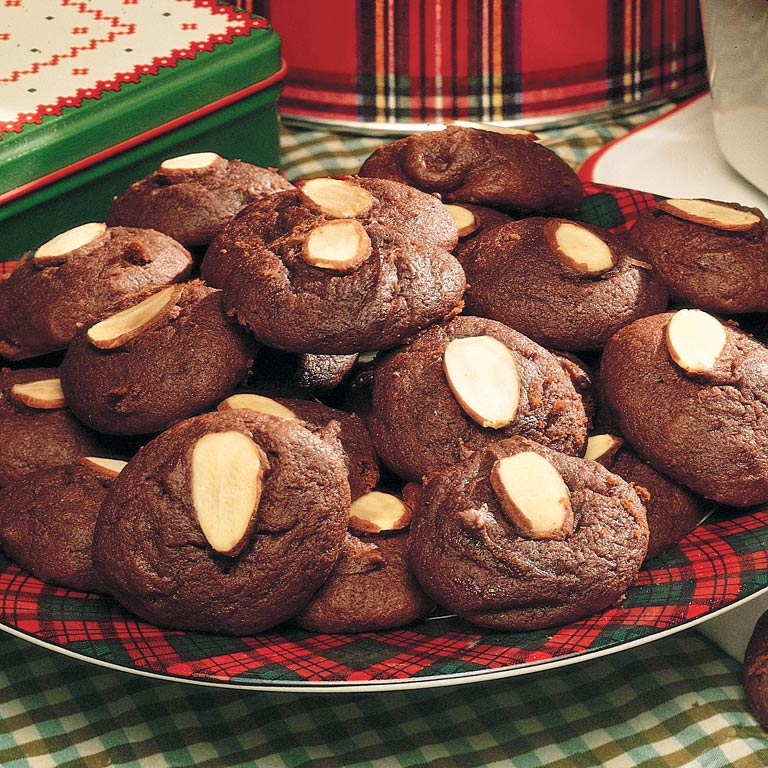 Image result for chocolate cookies almond