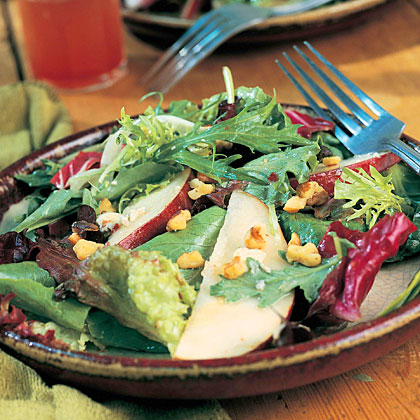 Field Salad with Pears and Blue Cheese Recipe