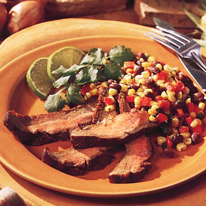 Grilled Flank Steak with Corn SalsaRecipe
