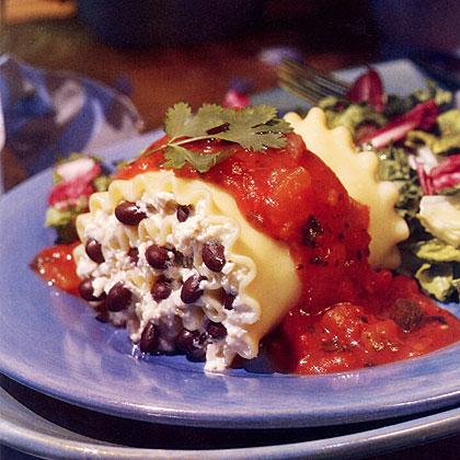 Black Bean Lasagna RollsRecipe