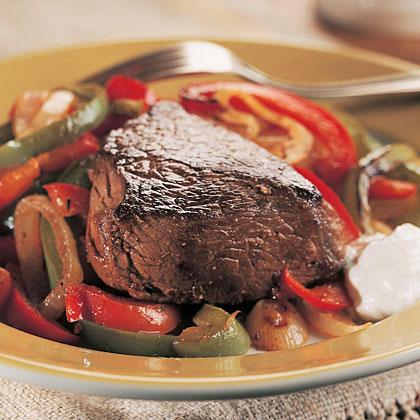 Seared Steaks with Creamy Horseradish Sauce