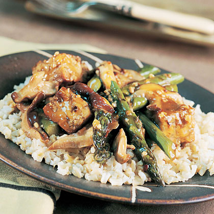 Spicy asparagus tempeh stir fry recipe myrecipes ccuart Image collections