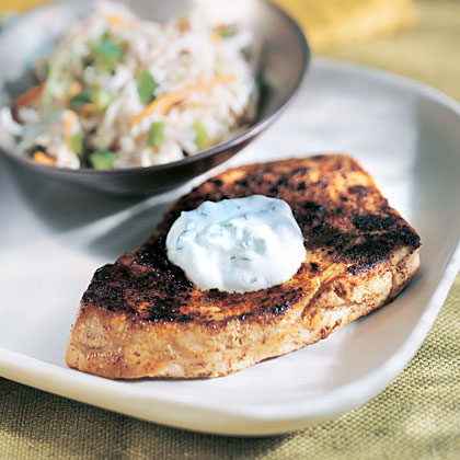 Tuna with Jalapeño Sour Cream Recipe