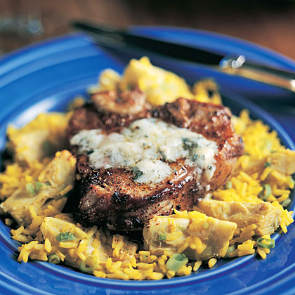 Blue Cheese Veal Chops