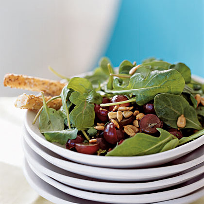 Arugula, Grape, and Sunflower Seed Salad