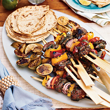 Grilled Beef Skewers with Moroccan Spices