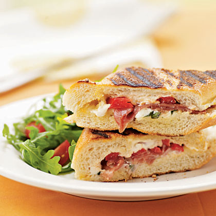 Panini with Prosciutto and Mozzarella