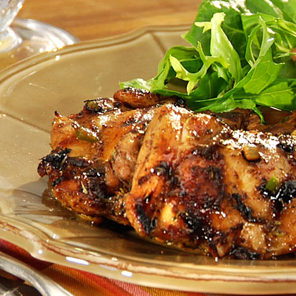 Jamaican spiced chicken thighs recipe myrecipes forumfinder Image collections