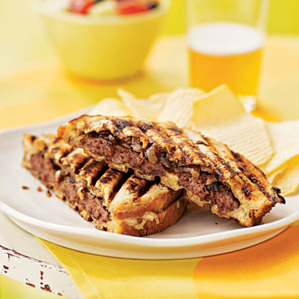 <p>Patty Melts with Grilled Onions</p>