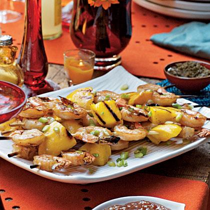 Chai-Brined Shrimp Skewers
