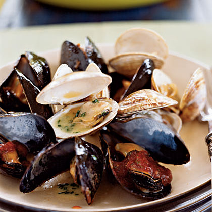 Steamed Mussels and Clams with Two SaucesRecipe