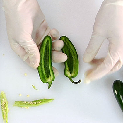Seeding Jalapeno Peppers