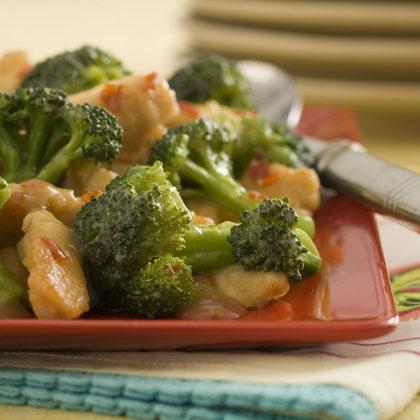 General Tso's Chicken and Broccoli