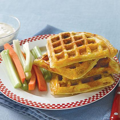 Ham and Cheddar Supper Waffles