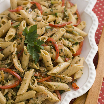 Toasted Walnut and Pesto Pasta