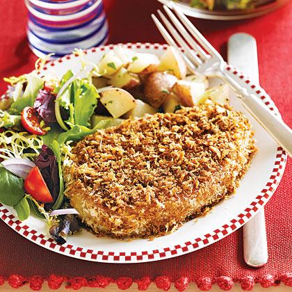 Oven Fried Pork Chops Recipe Myrecipes