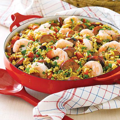 Quick Shrimp and Chorizo Paella