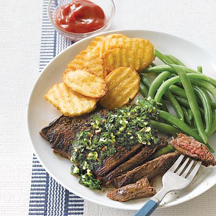 Skirt Steak with Chimichurri Recipe | MyRecipes