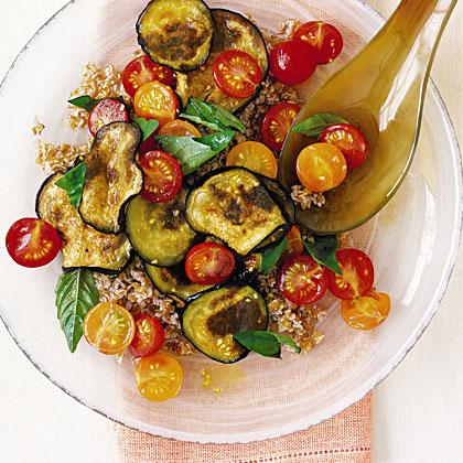 Bulgur Wheat Salad with Tomato and EggplantRecipe