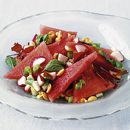 Watermelon Salad with Mint & Crispy Prosciutto Recipe   MyRecipes