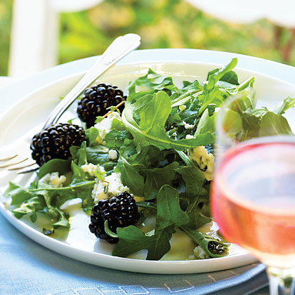 Marionberry, Blue Cheese, and Arugula Salad Recipe