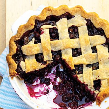 Spiced Blueberry Pie