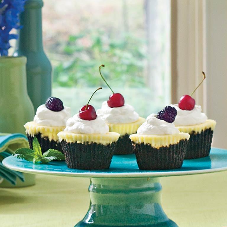 Chocolate-Key Lime Cupcake PiesRecipe
