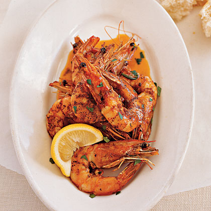 Fresh Gulf Shrimp with Barbecue ButterRecipe