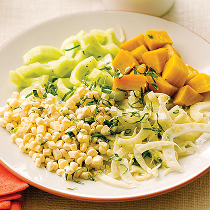 Market Salad with Corn, Beets, Fennel, and Cucumber