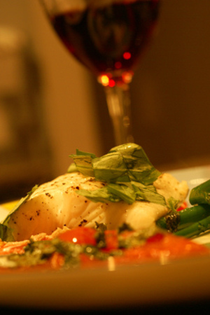 Roasted Halibut - An Adventure in Wine Pairing