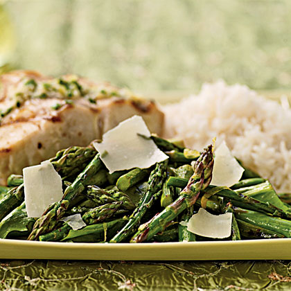 Grilled Asparagus and Arugula Salad with Lemon-Truffle Dressing Recipe